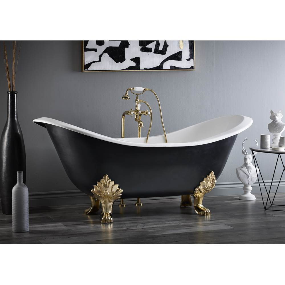 Cheviot Products REGENCY Cast Iron Bathtub with Lion Feet and Faucet Holes