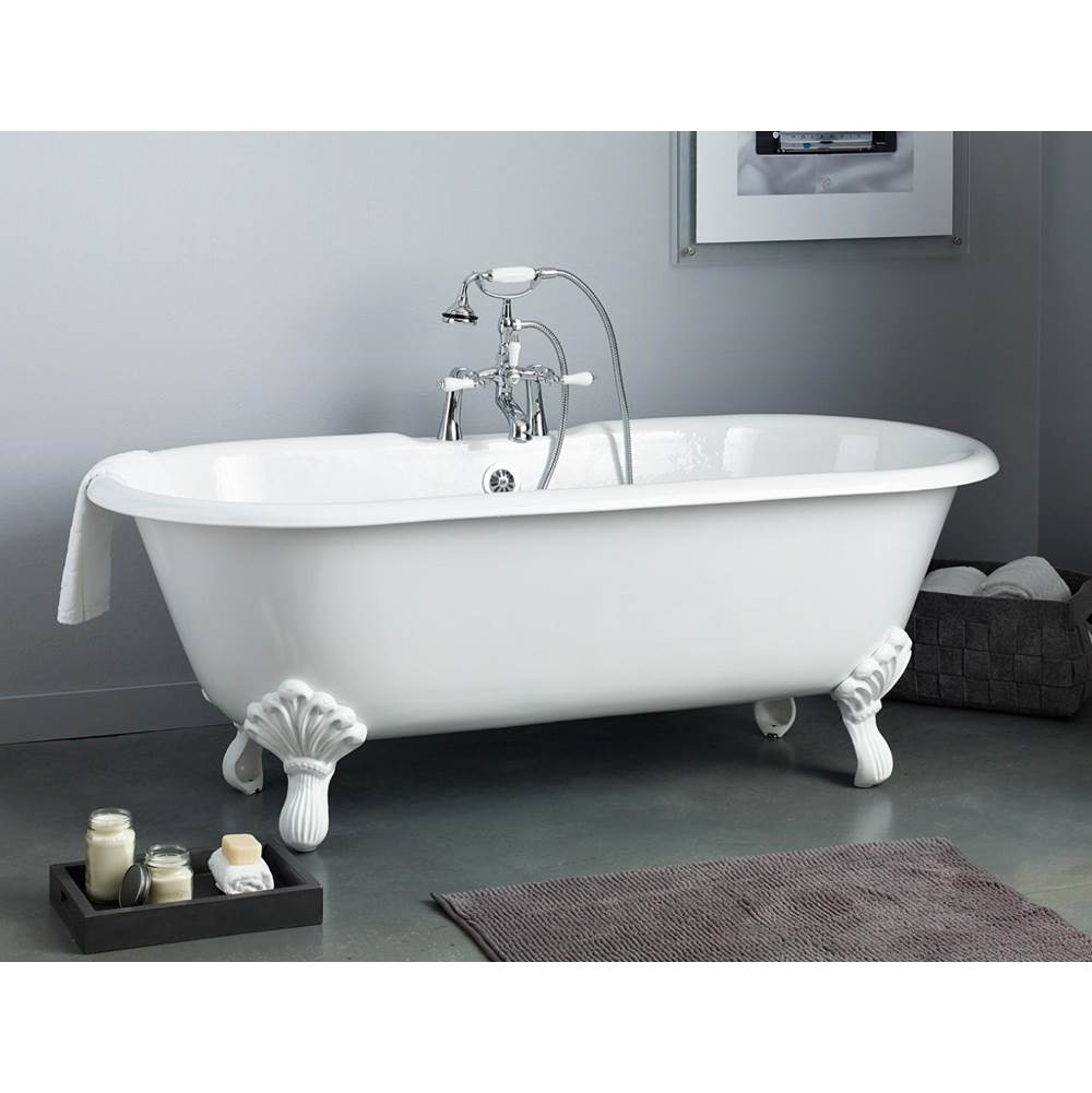 Cheviot Products REGAL Cast Iron Bathtub with Faucet Holes and Shaughnessy Feet