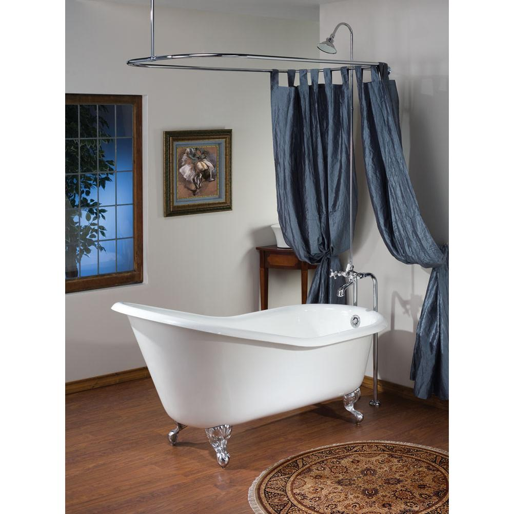Cheviot Products SLIPPER Cast Iron Bathtub with Continuous Rolled Rim