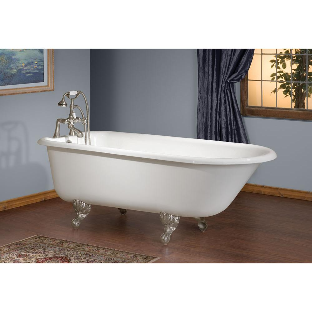 Cheviot Products TRADITIONAL Cast Iron Bathtub with Faucet Holes