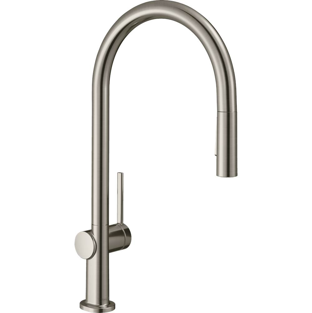 Hansgrohe Talis N Higharc Kitchen Faucet, O-Style 2-Spray Pull-Down With Sbox, 1.75 Gpm In Steel Optic