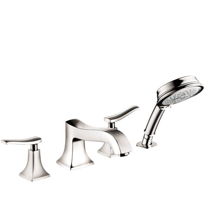 Hansgrohe Metris C 4-Hole Roman Tub Set Trim With 1.8 Gpm Handshower In Polished Nickel