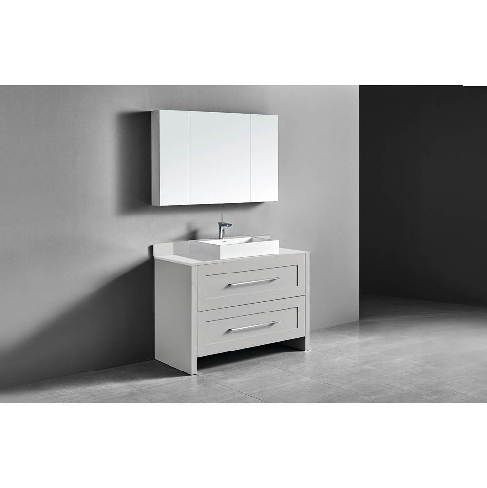 Madeli Madeli Retro 48'' Free Standing Vanity Whisper Grey/HW: Brushed Nickel(BN)