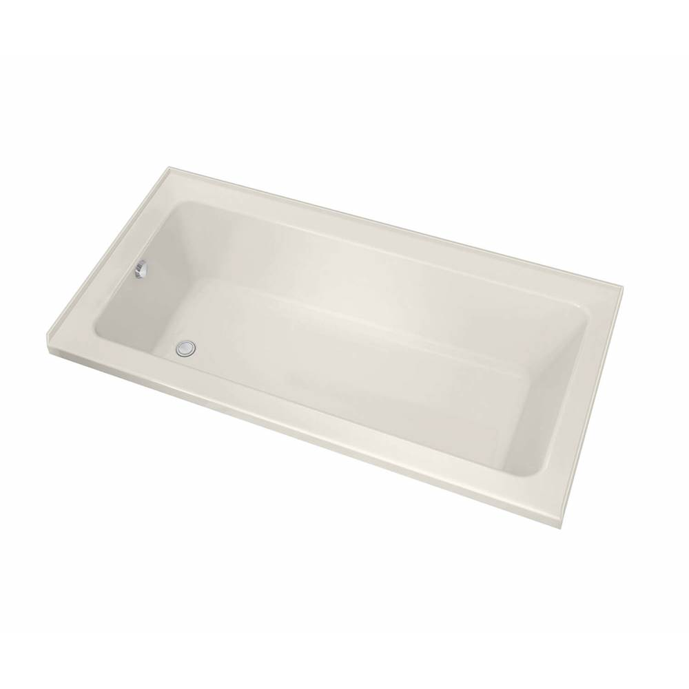 Maax Pose IF 71.5 in. x 35.75 in. Alcove Bathtub with Whirlpool System Left Drain in Biscuit