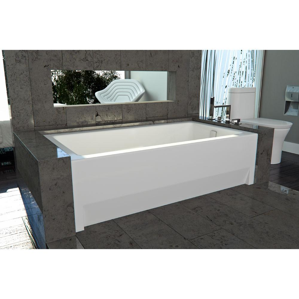 Neptune ZORA bathtub 36x66 with Tiling Flange, Right drain, Whirlpool/Activ-Air, Bone