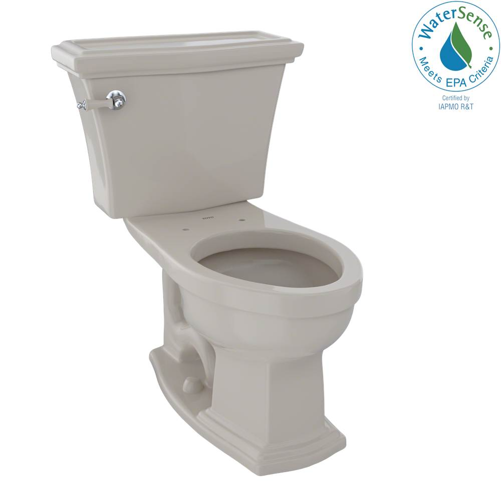 Toto Eco Clayton® Two-Piece Elongated 1.28 GPF Universal Height Toilet, Bone