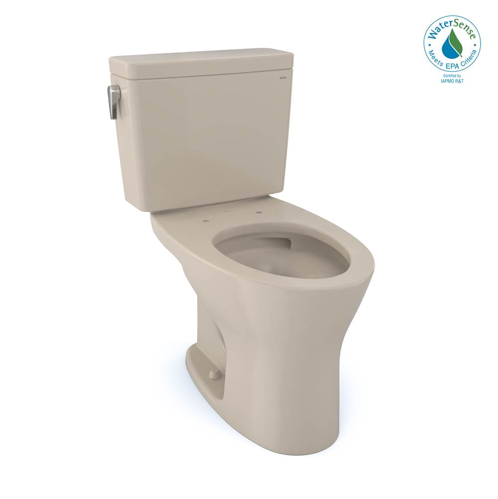 Toto Drake® 1G® Two-Piece Elongated Dual Flush 1.0 and 0.8 GPF Universal Height DYNAMAX TORNADO FLUSH® Toilet with CEFIONTECT®, Bone