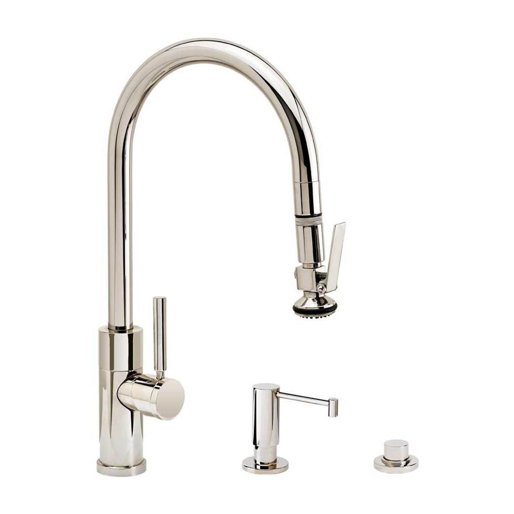 Waterstone Modern Plp Pulldown Faucet - Angled Spout - Lever Sprayer - 3Pc. Suite